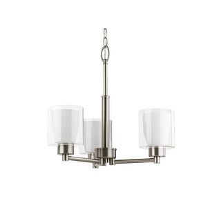 Miseno MLIT158952 Double Glass 3-Light Chandelier