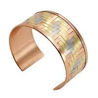 "Women's Woven Metals Cuff Bracelet - 1"" Wide"