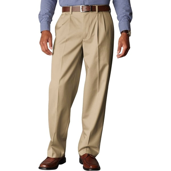Dockers Mens D4 Khaki Pants Twill Relaxed Fit