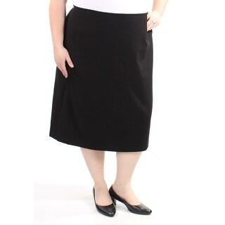 Womens Black Wear To Work Skirt Size 18W