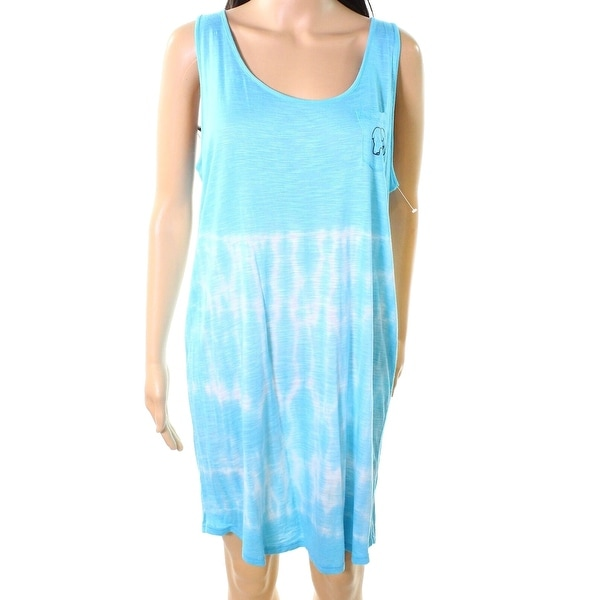 cac81cd004e0 Shop Ivory Ella Women's Small Tie Dye Elephant Print Shift Dress - On Sale  - Free Shipping On Orders Over $45 - Overstock - 27051273