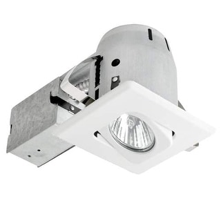 Globe Electric 90038 1 Light Recessed Lighting Kit Includes Trim, Housing / Can, Patented Clip System and Electrical Box