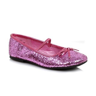 Flat Glitter Ballet Child Costume Shoes, Pink