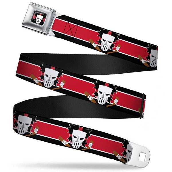 Casey Jones Head Stripe Full Color Black Red White Casey Jones Baseball & Seatbelt Belt