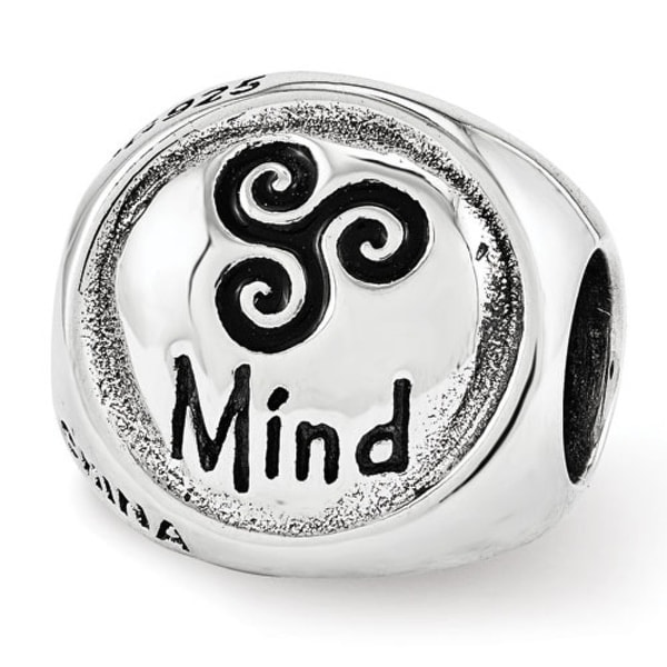 Sterling Silver Reflections Mind Body Spirit Trilogy Bead (4mm Diameter Hole)