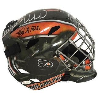 Ron Hextall Signed Philadelphia Flyers Full Size Goalie Mask JSA