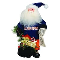 "10"" NCAA Auburn Tigers Gift Bearing Santa Claus Christmas Table Top Figure - Blue"