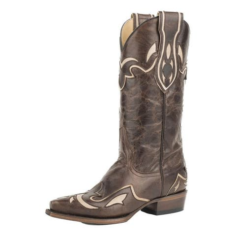 """Stetson Western Boots Womens Cali 13"""" Brown"""