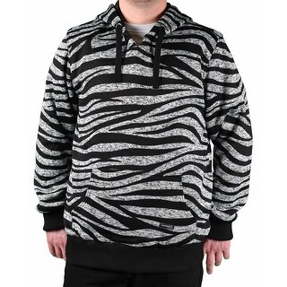 MO7 Men's Tiger Stripe Hooded Sweater (Option: Black)