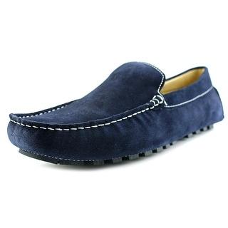 Zanzara Picasso Men Moc Toe Leather Blue Loafer