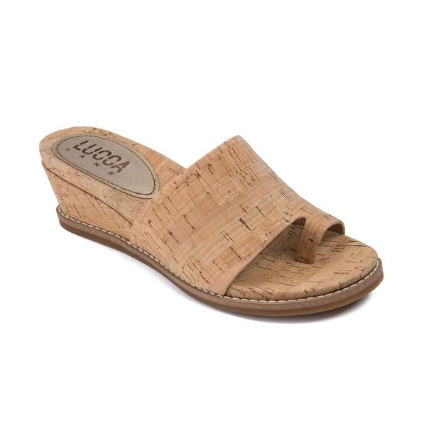 Lucca Lane Wynona Women's Sandals & Flip Flops Natural Cork - 9