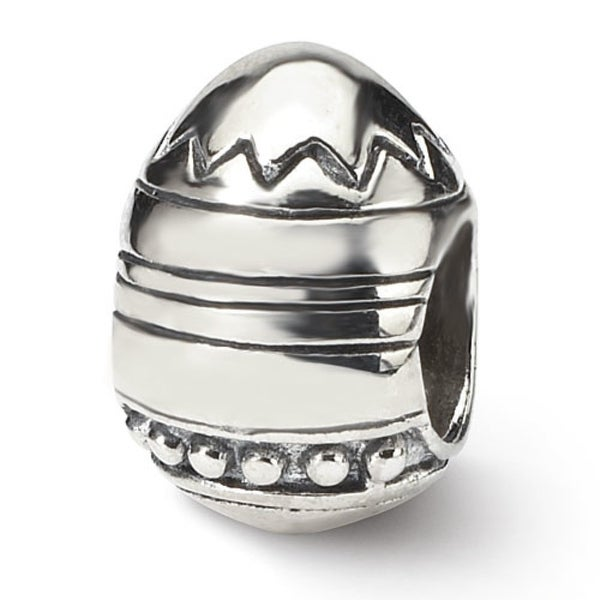 Sterling Silver Reflections Easter Egg Bead (4mm Diameter Hole)