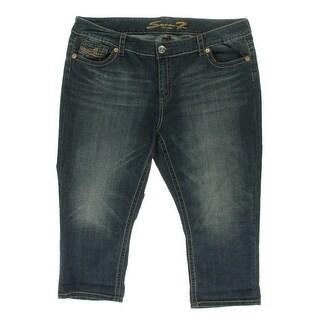 Seven7 Womens Stretch Low-Rise Capri Jeans