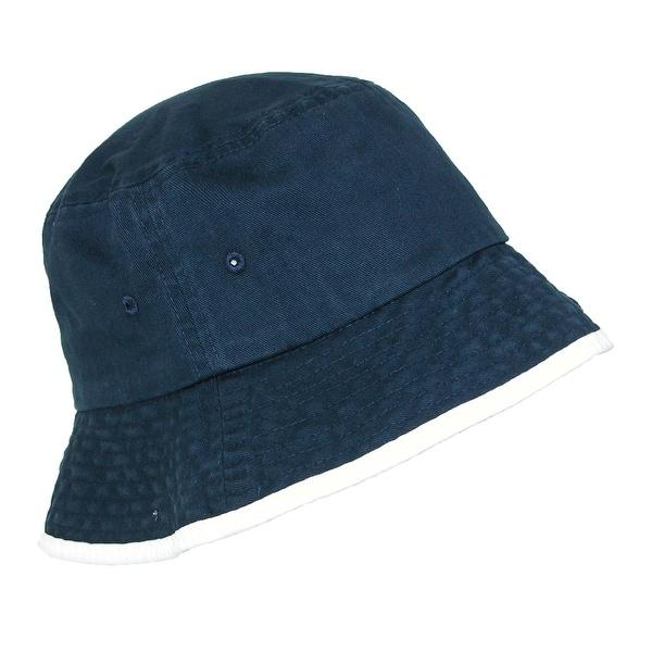 Sportsman Cotton Sun Bucket Hat With Contrasting Trim