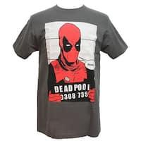 Marvel Men's Deadpool Mugshot T-Shirt