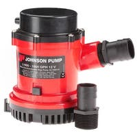 "Johnson Pump 1600 GPH Bilge Pump 1-1/8"" Hose 12V"