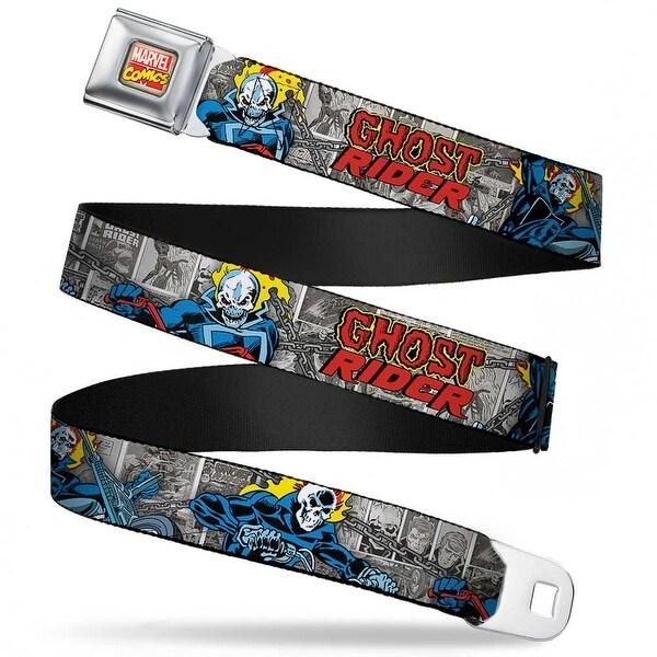 Marvel Comics Marvel Comics Logo Full Color Classic Ghost Rider 3 Riding Seatbelt Belt