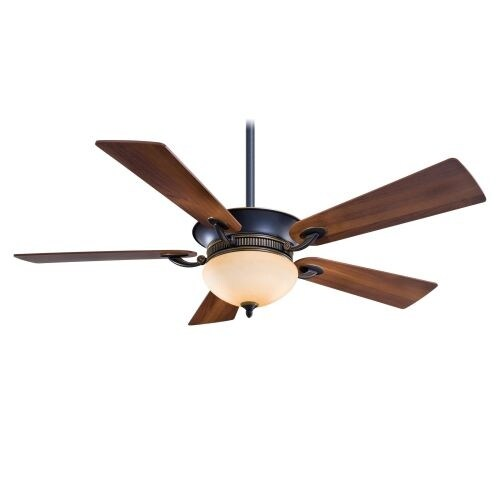"""MinkaAire Delano Delano 52"""" 5 Blade Indoor Ceiling Fan with Wall Control System, Blades, and Integrated Up / Down Lights"""