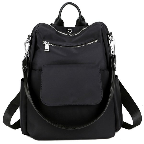 Women Backpack Purse Water Resistant Nylon Ladies Rucksack with Earphone  Hole Shoulder Bag 52d9e2ec532e3