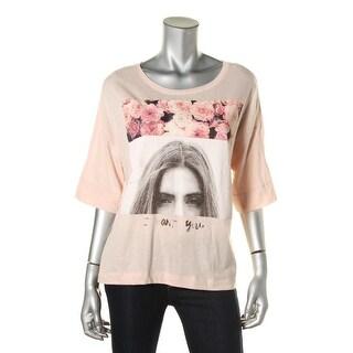 Zara Trafaluc Womens Graphic Short Sleeves T-Shirt - M
