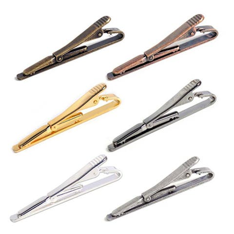 Fashion Men Metal Simple Necktie Tie Bar Clip Clasp Pin Business Accessory Gift
