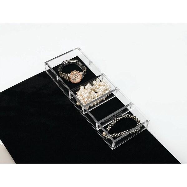"""Rev-A-Shelf CA-SMORG-1 CA Series 11.625"""" x 4.25"""" Clear Acrylic Jewelry Organizer"""