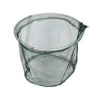 "Unique Bargains 13.8"" x 13.6"" Nylon Portable Fishing Landing Net Fish Angler Mesh Crawfish Shrimp Silver Tone Green"