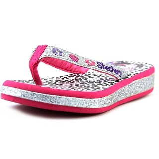 Twinkle Toes by Skechers Girls sunshines-, Silver/hot pink, Size 2 M Youth - 2 m youth