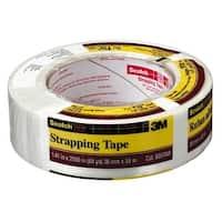"Scotch 8957-1.5 Strapping Tape, 1-1/2"" x 60 Yard, Tan"