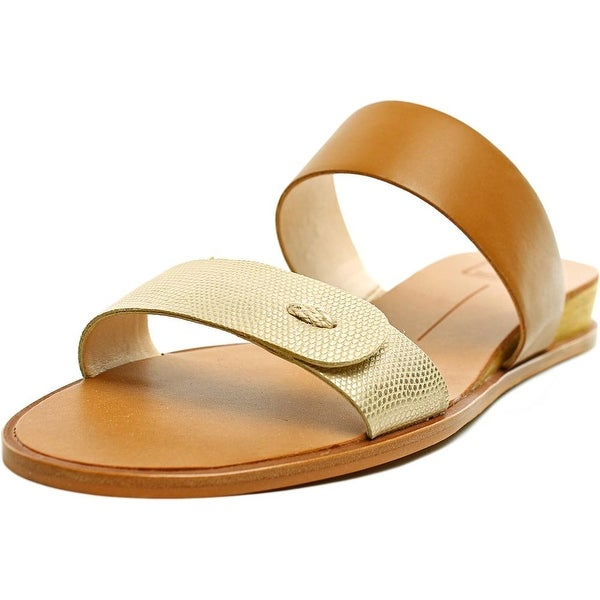 Dolce Vita Peya Women Open Toe Synthetic Gold Slides Sandal