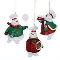 "Club Pack of 12 Snowman Baker Christmas Ornaments 4.5"" - multi"