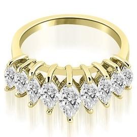1.75 cttw. 14K Yellow Gold Marquise Diamond Prong Wedding Band