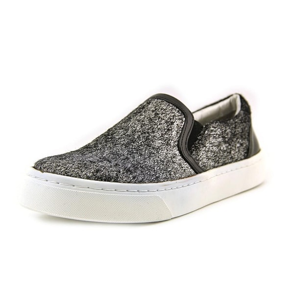 Luichiny Vay Kay Women  Round Toe Canvas Silver Loafer