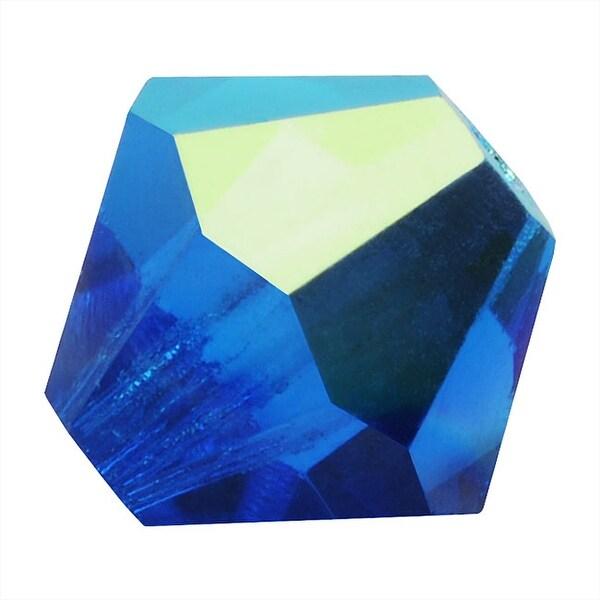 Preciosa Czech Crystal Beads 6mm Bicone Capri Blue AB (20)