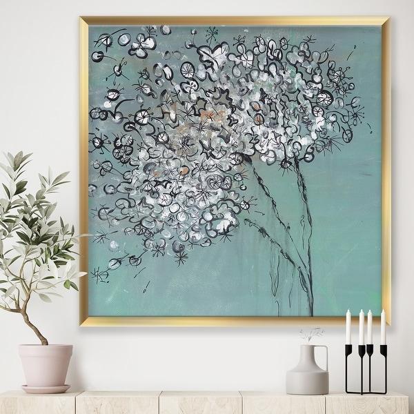 Designart 'Teal Blossoming Dandelion' Modern & Contemporary Framed Art Print. Opens flyout.