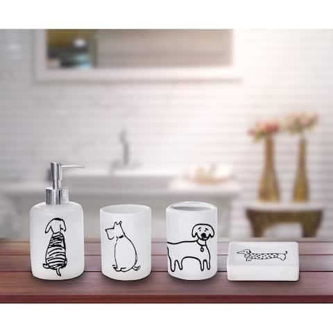Lauren Taylor -Doggy 4pcs Ceramic Accessories