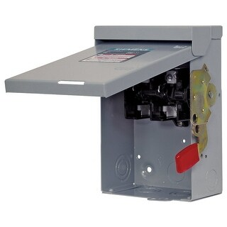 Siemens LNF222RU Non-Fusible Lever Safety Switch, Steel, Galvanized, 60 Amp