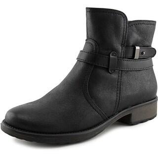 Baretraps Saint Round Toe Canvas Ankle Boot