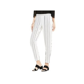 Vince Camuto Womens Straight Leg Pants Striped Pull On