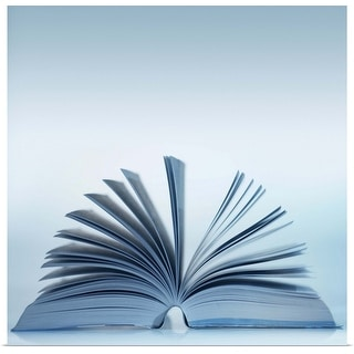 """""""close-up of an open book"""" Poster Print"""