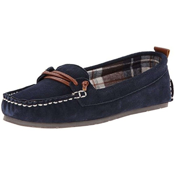 CLARKS Womens Moccasin Slip-On Loafer Leather Closed Toe Loafers - 5