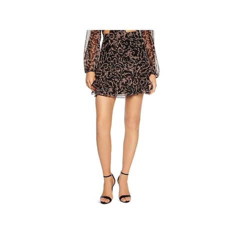 Bardot Womens Ditsy Mini Skirt Floral Print Ruffled