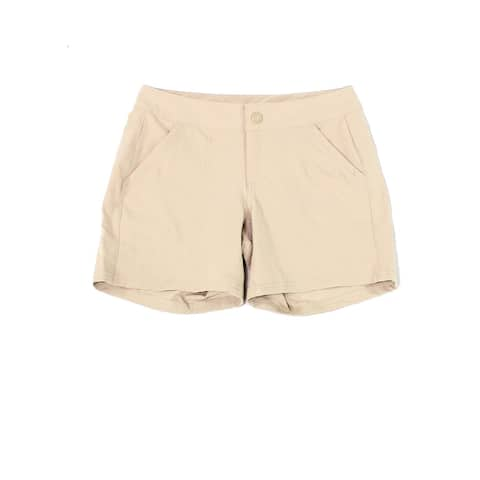 The North Face Womens Shorts Beige Size 4 Outdoor Water Resistant
