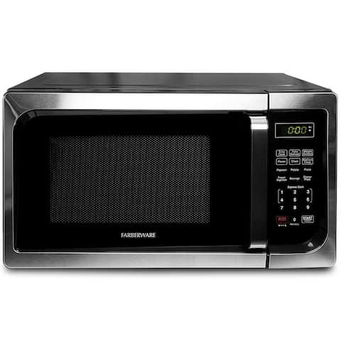 Farberware Classic FM09SSE 0.9 Cu. Ft 900-Watt Microwave Oven, Stainless Steel