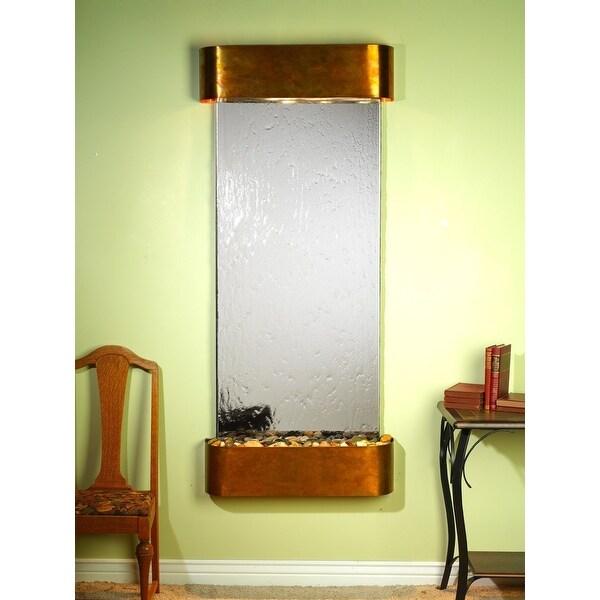Adagio Inspiration Falls Fountain w/ Silver Mirror in Rustic Copper Finish