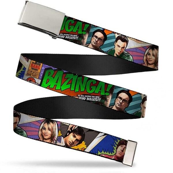 Blank Chrome Bo Buckle The Big Bang Theory Comic Strip Webbing Web Belt