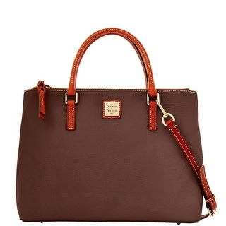 Dooney & Bourke Pebble Grain Willa Zip Satchel (Introduced by Dooney & Bourke at $288 in Jan 2014) - Chocolate
