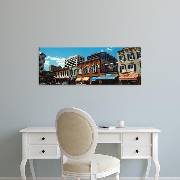 Easy Art Prints Panoramic Images's 'View of buildings on 6th Street, Austin, Texas, USA' Premium Canvas Art