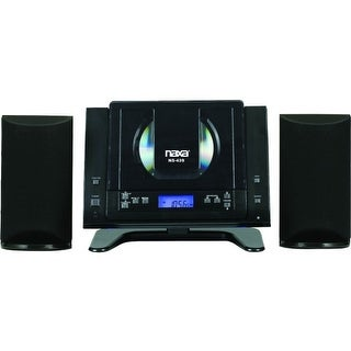Naxa NS-439 Naxa NS-439 Micro Hi-Fi System - 4.4 W RMS - Black - CD Player - AM, FM - 2 Speaker(s) - CD-DA - Remote Control