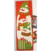 "Club Pack of 108 Snowman Christmas Card Wall Holders 36"" - multi"